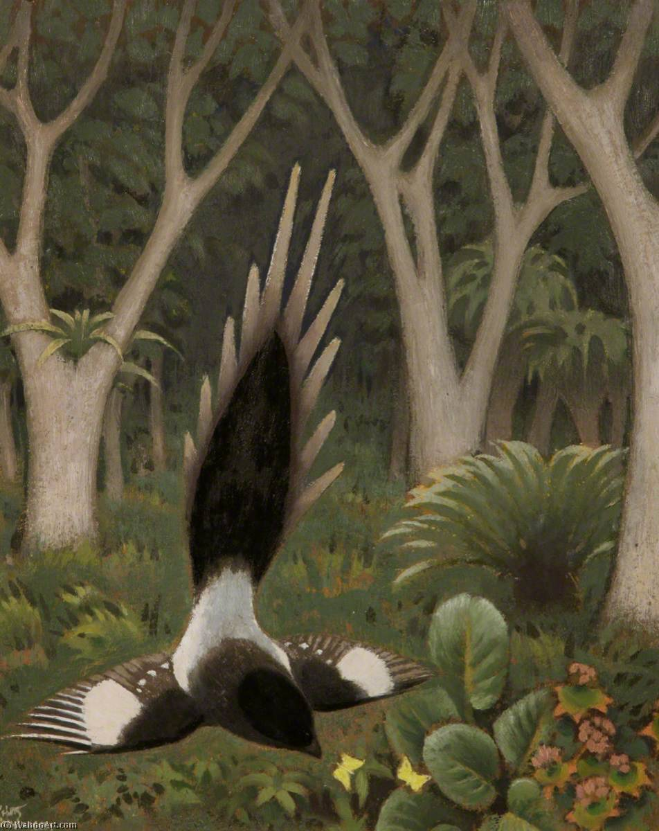 Long Tailed Fly Catcher by Keith Henderson (1883-1982) |  | WahooArt.com