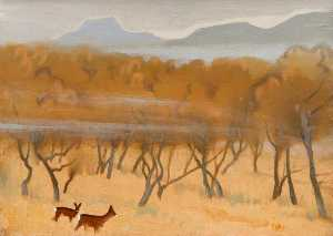 Keith Henderson - Roe Deer in Autumn