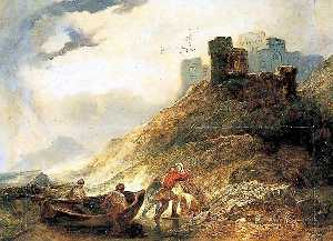 Alfred Clint - Landing at East Cliff, Dover, Kent