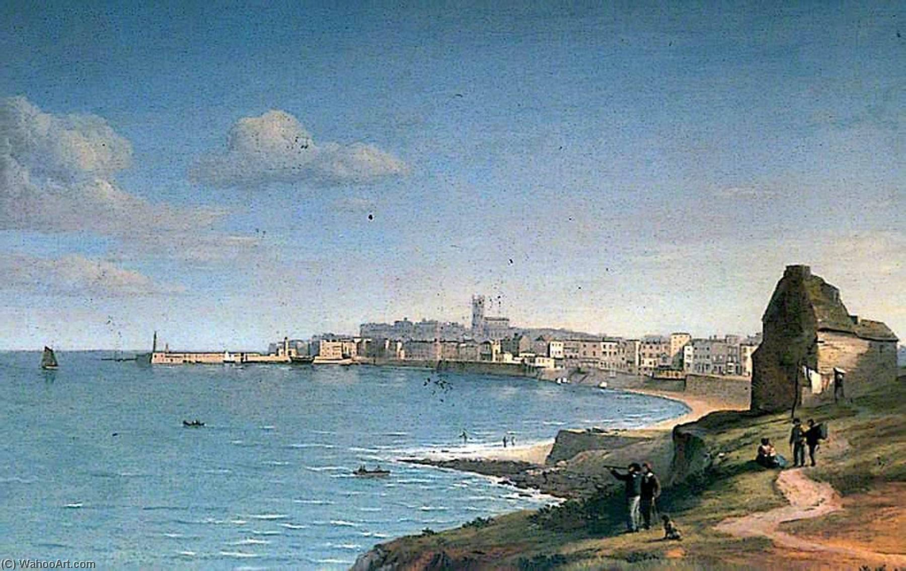 Margate, Kent, from Westbrook, Oil On Panel by Alfred Clint