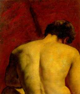 William Etty - Study of a Nude Male Figure