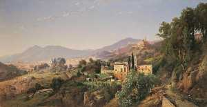Louis Auguste Lapito - View of Genoa
