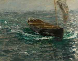 Charles Napier Hemy - Study of a Sailing Dinghy