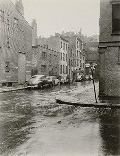 Commerce Street with Cherry Lane Theatre, Print by Berenice Abbott (1898-1991, United States)