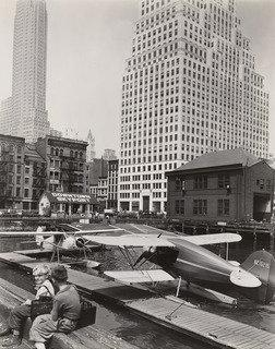 Downtown Skyport, Foot of Wall Street, Manhattan, Print by Berenice Abbott (1898-1991, United States)