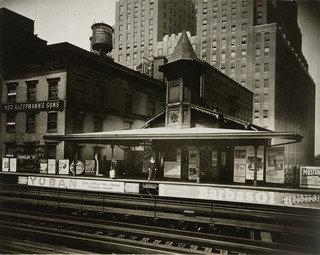 Barclay Street Elevated Platform, 1933 by Berenice Abbott (1898-1991, United States) | Oil Painting | WahooArt.com