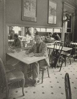 Old Cafe, Lafayette Hotel, Print by Berenice Abbott (1898-1991, United States)
