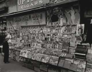 Newsstand, East 32nd Street and Third Avenue, Manhattan, 1935 by Berenice Abbott (1898-1991, United States) | Painting Copy | WahooArt.com