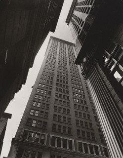 Canyon Broadway and Exchange Place, Manhattan, Print by Berenice Abbott (1898-1991, United States)