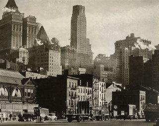 View from West Street, Manhattan, Print by Berenice Abbott (1898-1991, United States)
