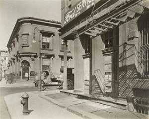 Berenice Abbott - Corner of East 10th Street and Avenue D, Manhattan