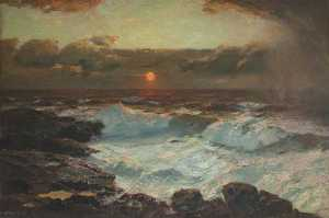 Albert Julius Olsson - Sunset at Land's End