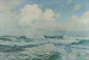 Albert Julius Olsson - A Song of the Sea