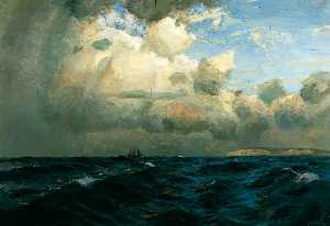 Order Museum Quality Copies | Seascape off the Isle of Wight by Albert Julius Olsson | WahooArt.com