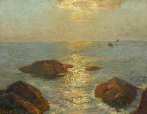 Albert Julius Olsson - Golden Afternoons, Cornish Coast