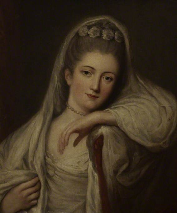 Order Art Reproductions | Miss Davis as a Bride, 1780 by Thomas Beach | WahooArt.com