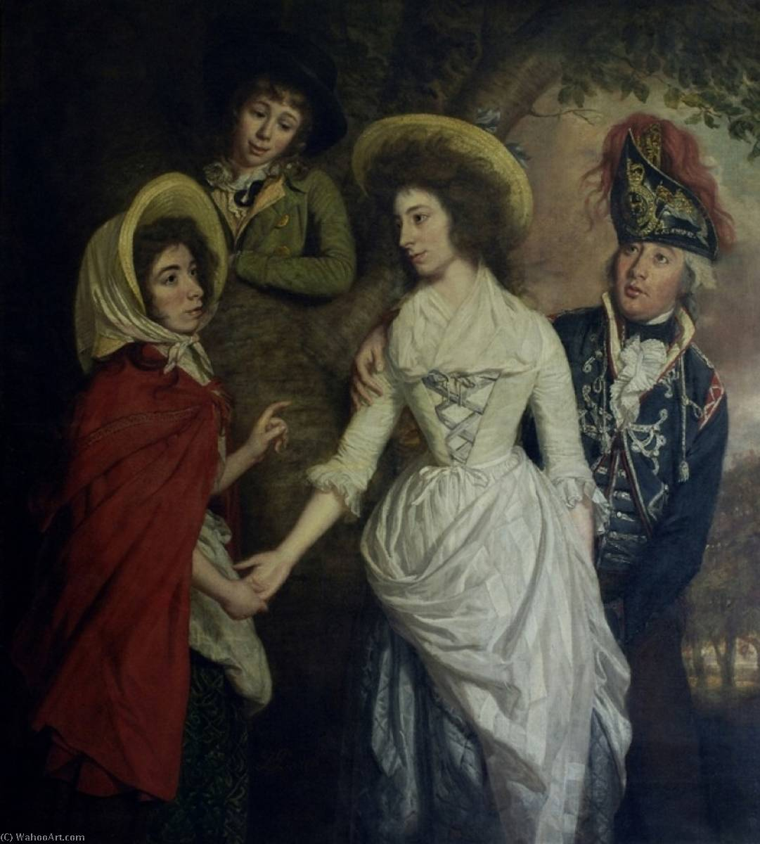 Order Reproductions | The Stapleton Family, 1789 by Thomas Beach | WahooArt.com