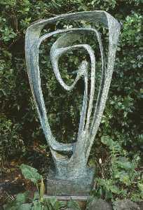 Dame Barbara Hepworth - Garden Sculpture (Model for Meridian)