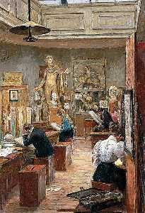 Alfred James Munnings - The Painting Room, Norwich School of Art