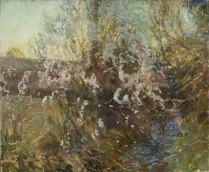 Alfred James Munnings - Spring in a Cornish Valley