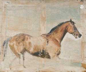 Alfred James Munnings - Horse Study (verso)