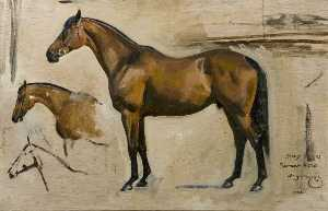 Alfred James Munnings - Study for 'Southern Hero'