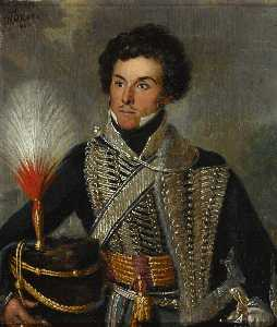 William Allan - An Officer of the 18th Regiment of (Light) Dragoons (Hussars), c.1815