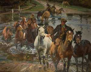Alfred James Munnings - The Ford
