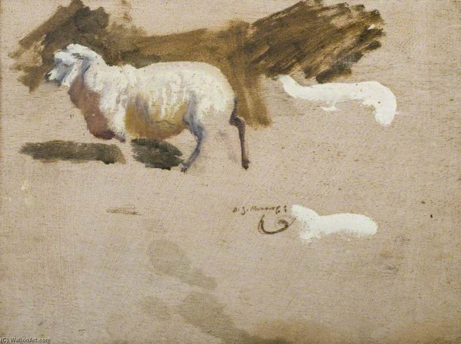 Study of an Exmoor Sheep by Alfred James Munnings (1878-1959, United Kingdom) |  | WahooArt.com