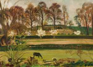 Alfred James Munnings - Early Spring Landscape, Dedham