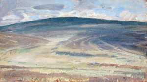 Alfred James Munnings - A View in Exmoor, Distant Hill in Shadow