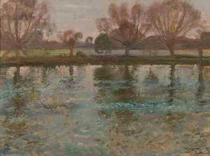 Alfred James Munnings - The Stour at Dedham