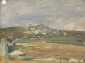 Alfred James Munnings - An Exmoor Landscape (verso)