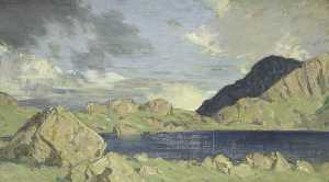 Charles John Holmes - Coniston Old Man from Levers Water