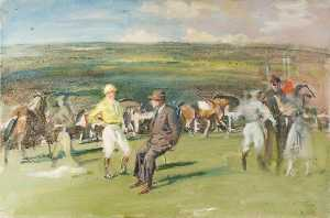 Alfred James Munnings - Before the Race
