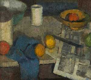 William George Gillies - Still Life with Two Lemons
