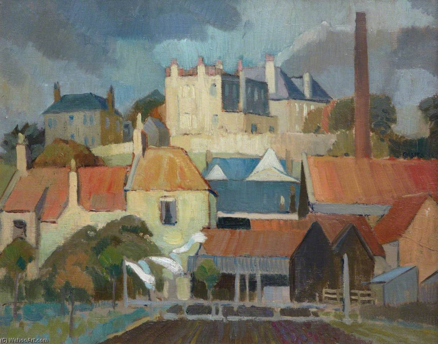 Order Museum Quality Copies | Red Roofs, 1923 by William George Gillies | WahooArt.com