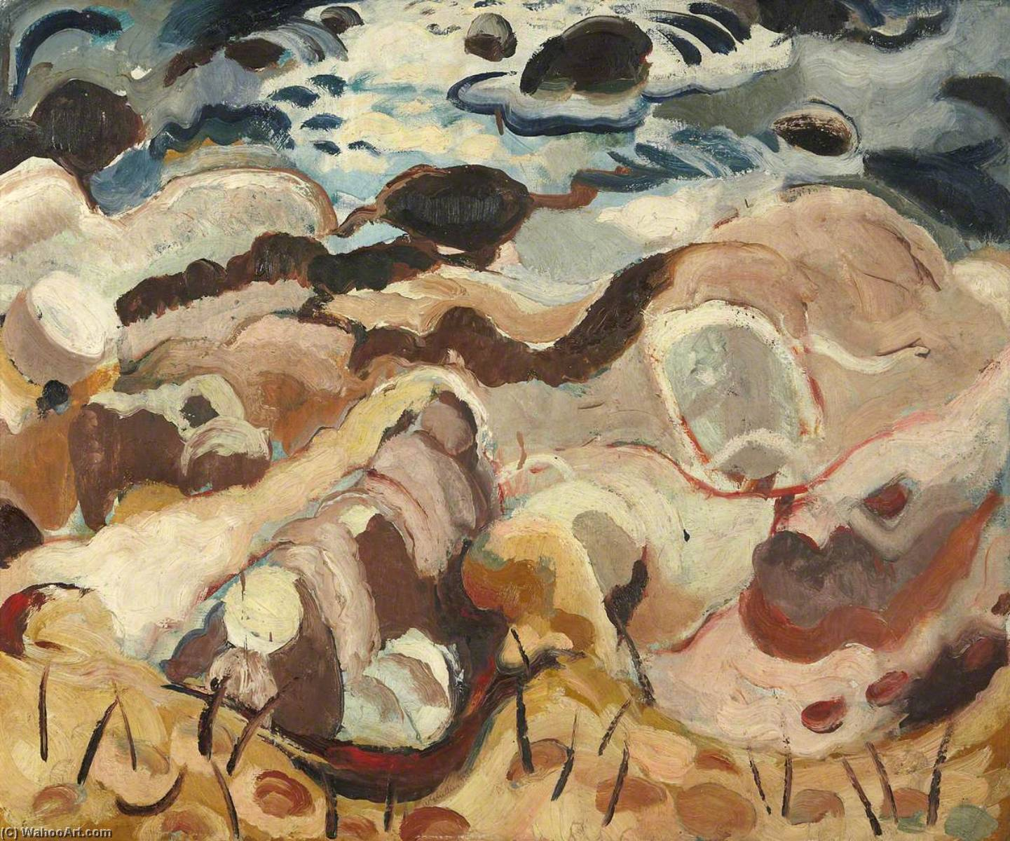 Rocks and Sea, 1935 by William George Gillies | Museum Art Reproductions William George Gillies | WahooArt.com