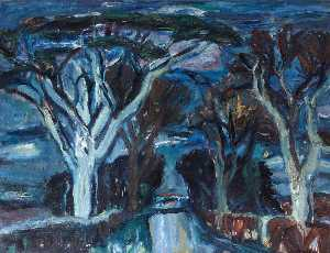 William George Gillies - Woods at Humbie, East Lothian