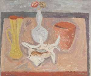 William George Gillies - Still Life with Shell