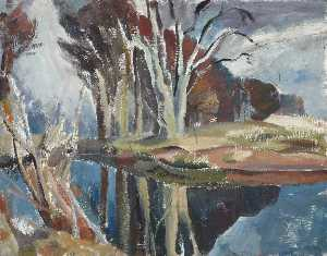 William George Gillies - Beech Tree Reflections