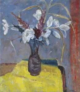 William George Gillies - Still Life with Flowers in a Vase