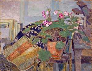 Jean Edouard Vuillard - Le pot de fleurs (Pot of Flowers)