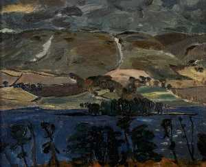 William George Gillies - Storm over Gladhouse