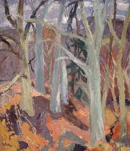 William George Gillies - Woods at Arniston, Midlothian