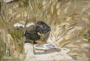 Jean Edouard Vuillard - Woman Reading in the Reeds, Saint Jacut de la mer