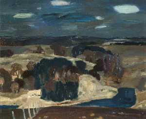 William George Gillies - Midlothian Landscape