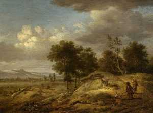 Jan Jansz Wijnants - Landscape with Coursing