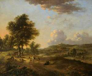Jan Jansz Wijnants - Landscape The Mendicant