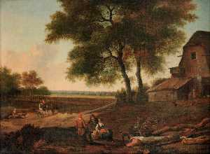 Jan Jansz Wijnants - Landscape with Farm
